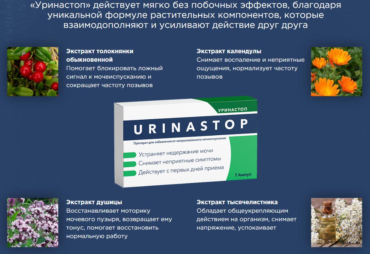 Уринастоп против недержания мочи